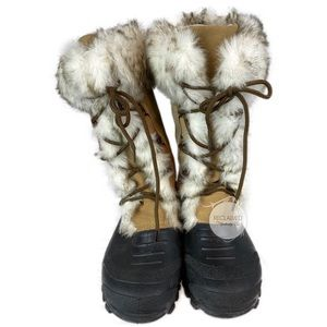 CHEROKEE Warm Lined Lace Up Winter Boots | 10